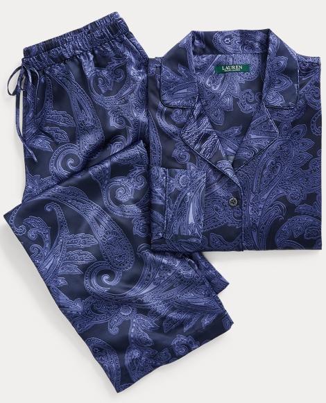 Paisley Satin Pajama Set
