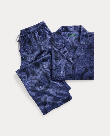 Paisley Satin Pajama Set