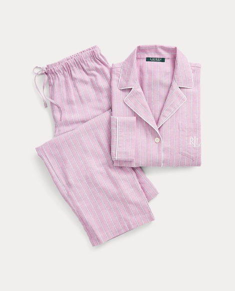 Stripe Cotton-Blend Pajama Set