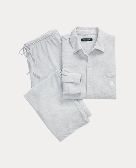 Heathered Jersey Pajama Set