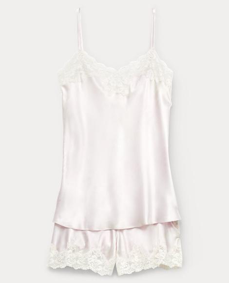 Floral Satin Pajama Short Set
