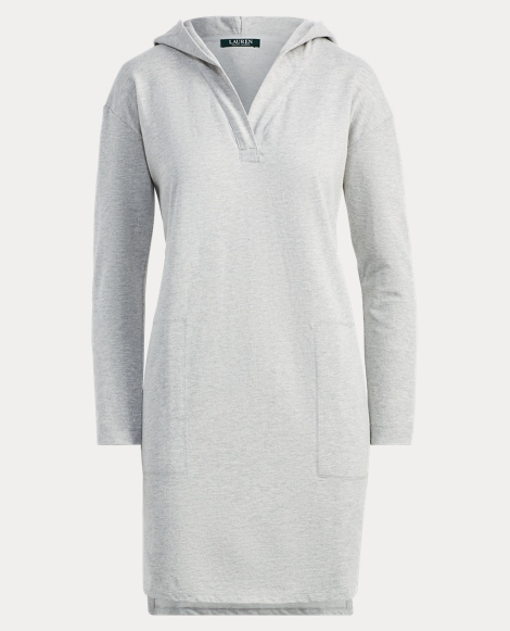 Jacquard-Knit Hooded Nightgown