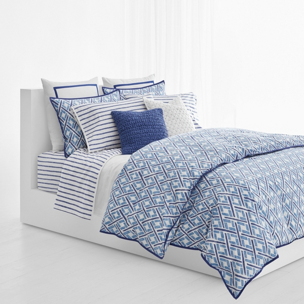 Ralph Lauren Jensen Duvet Cover & Sham Set Blue Multi Full / Queen