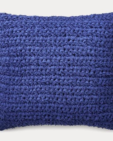 Jensen Rag-Knit Throw Pillow