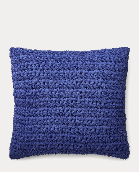Jensen Rag-Knit Throw Pillow