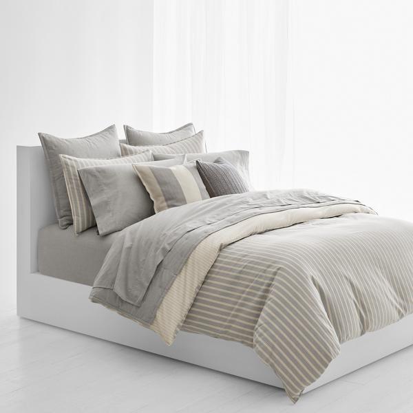 Ralph Lauren Graydon Striped Comforter Dune And Fog Twin