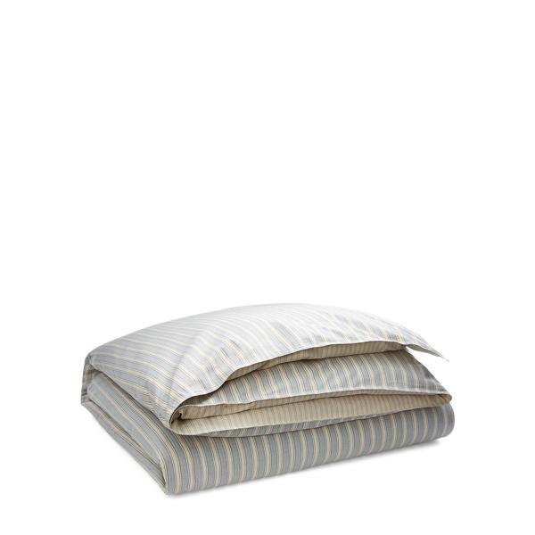 Ralph Lauren Graydon Striped Comforter Dune And Indigo Full / Queen
