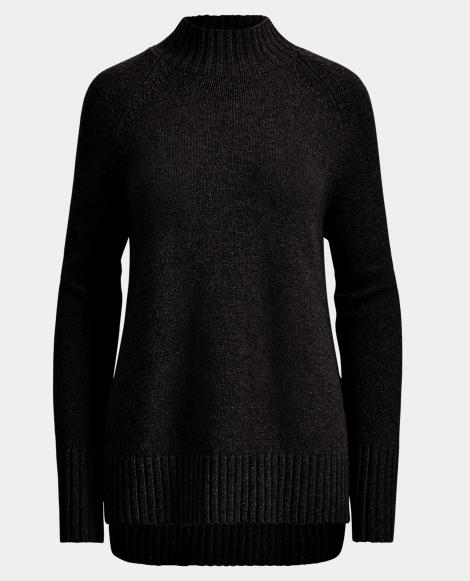 Wool-Cashmere Mockneck Sweater