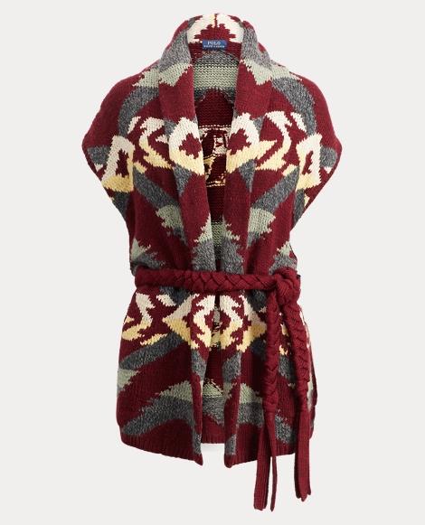 Wool-Blend Shawl Cardigan