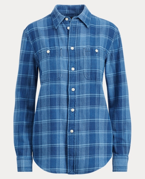 Relaxed Plaid Twill Shirt