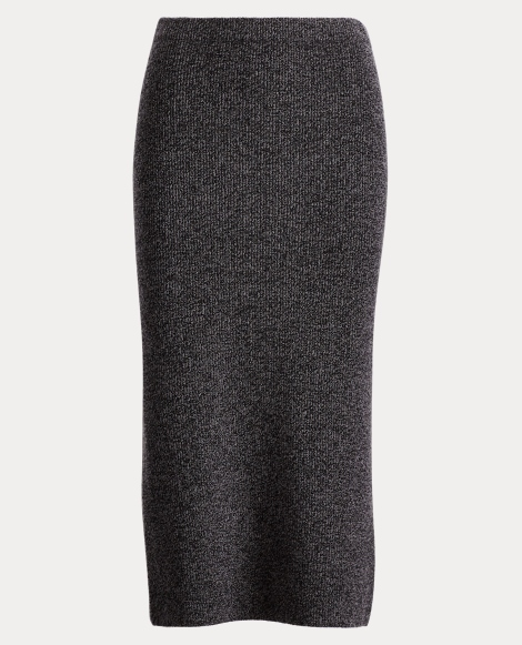Ribbed Wool-Blend Midi Skirt