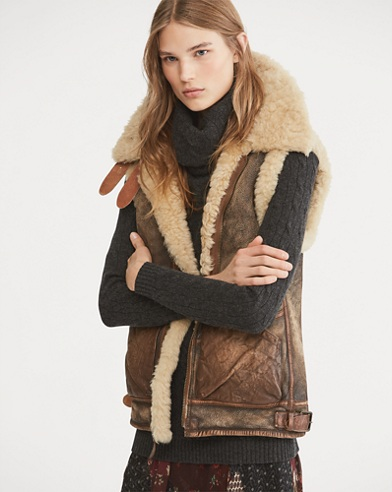Shearling Full-Zip Vest