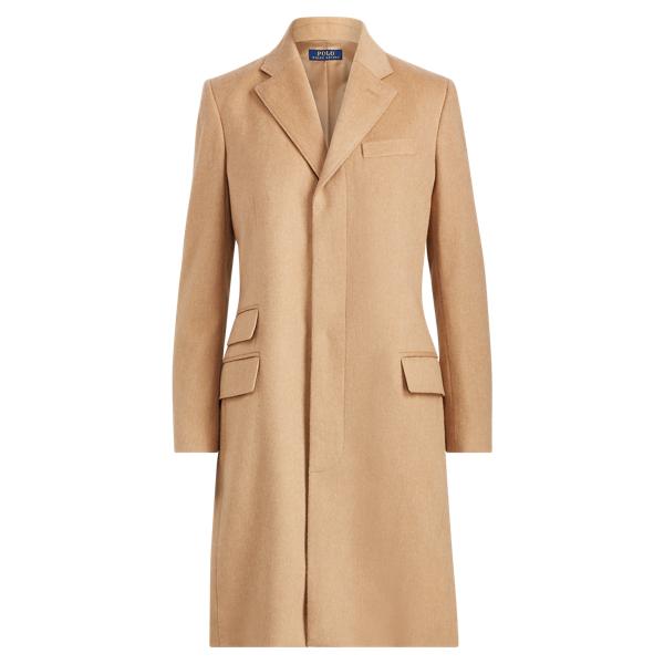 Ralph Lauren Wool-Blend Chesterfield Coat Camel 6