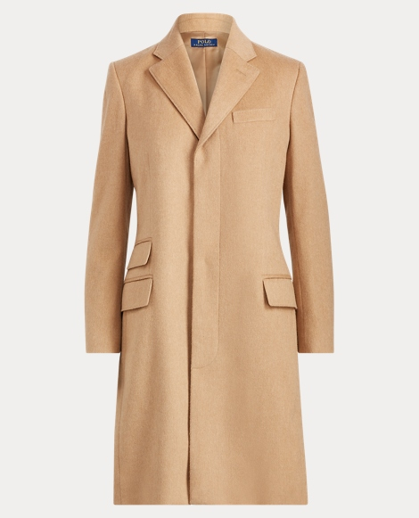 Wool-Blend Chesterfield Coat