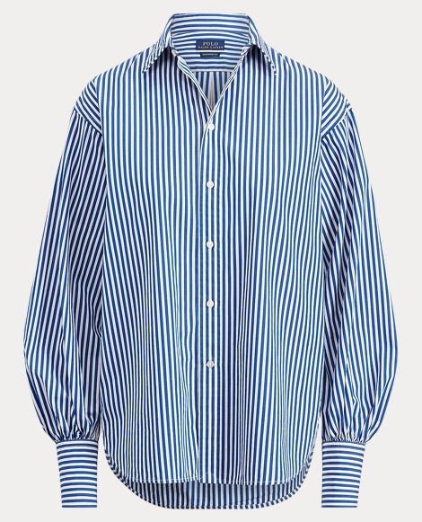 Striped Cotton Boyfriend Shirt