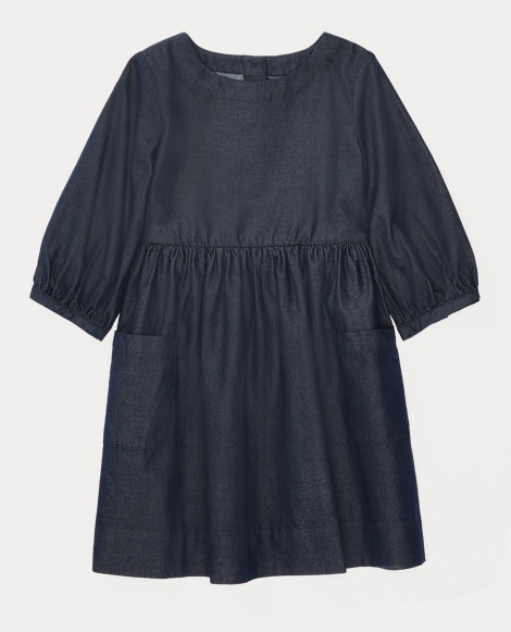 Button-Back Cotton Dress