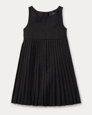 Pleated Virgin Wool Dress