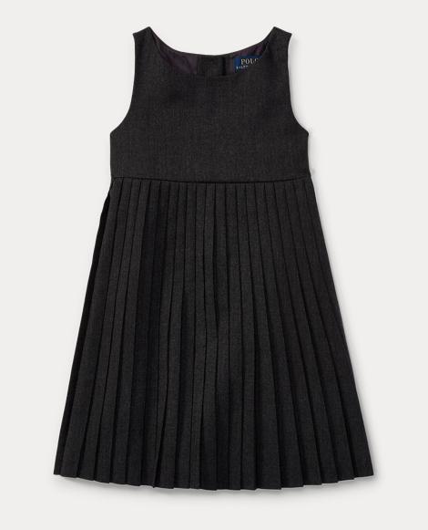 Pleated Virgin Wool Dress