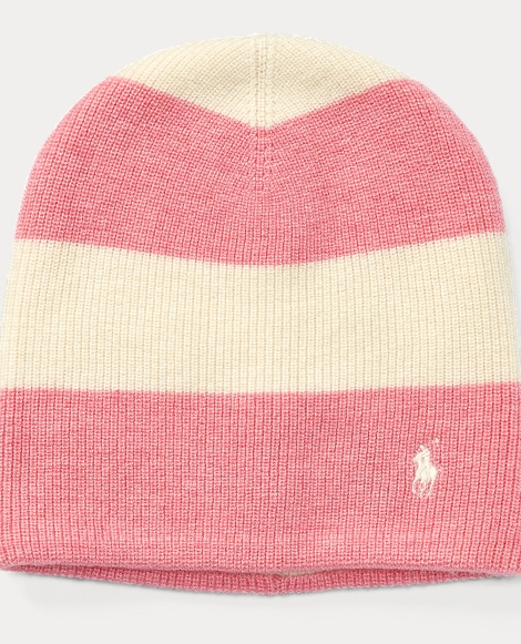Rugby-Striped Slouchy Hat
