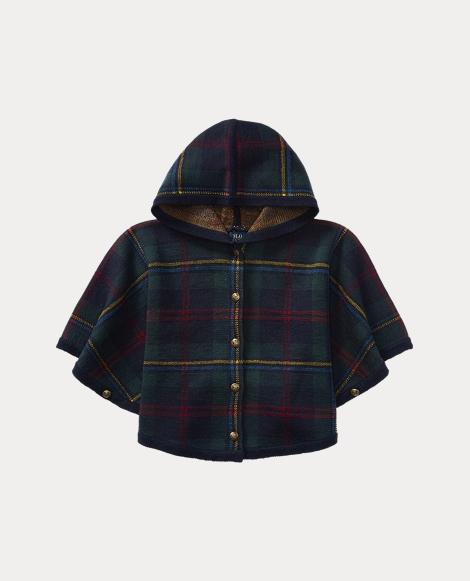 Plaid Wool Poncho
