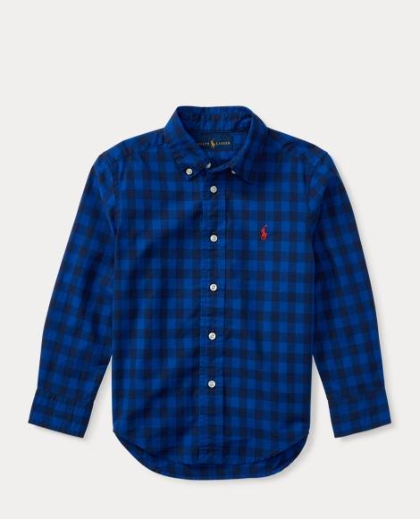 Checked Cotton Poplin Shirt