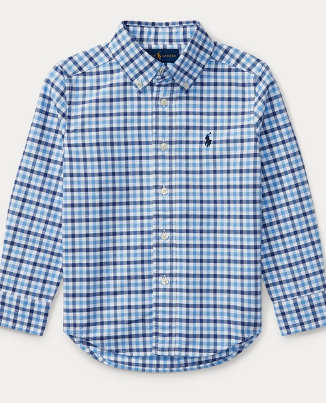 Checked Cotton Oxford Shirt