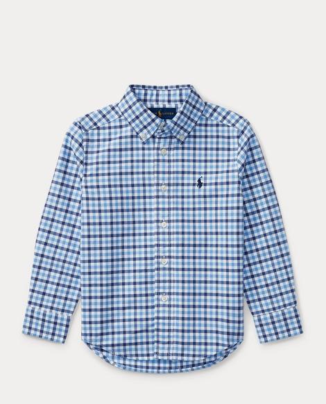 Checked Cotton Oxford Shirt