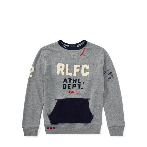Ralph Lauren Cotton Graphic Sweatshirt Vesper Grey Heather S