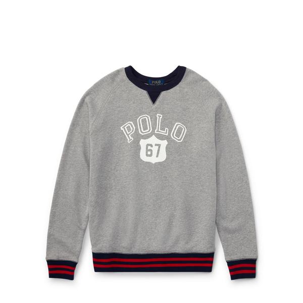 Ralph Lauren Cotton Graphic Sweatshirt Andover Heather S