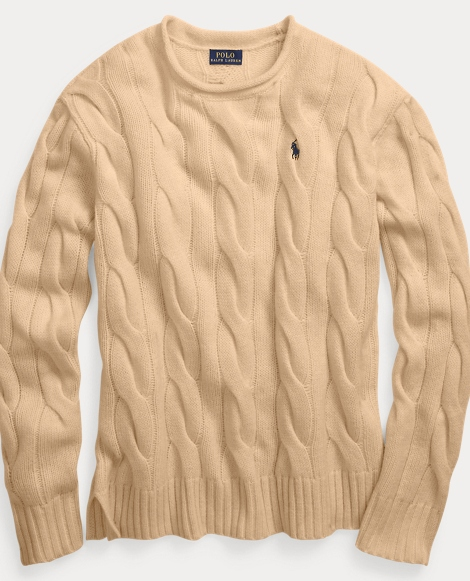 Cable Wool-Cashmere Sweater