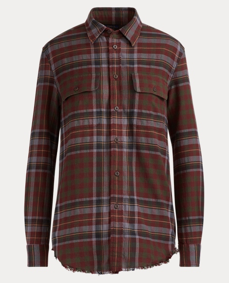 Relaxed Plaid Flannel Shirt
