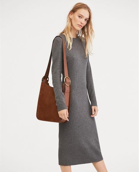 Wool-Cashmere Midi Dress