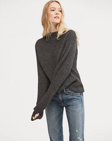 Wool-Blend Mockneck Sweater