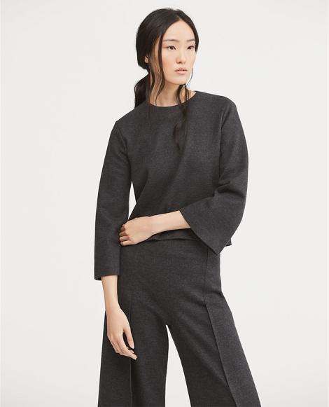 Boxy Wool-Blend Top