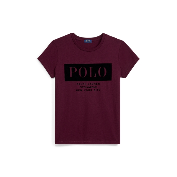 Ralph Lauren Cotton Jersey Polo T-Shirt Wine S