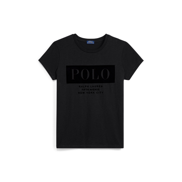 Ralph Lauren Cotton Jersey Polo T-Shirt Black Xs
