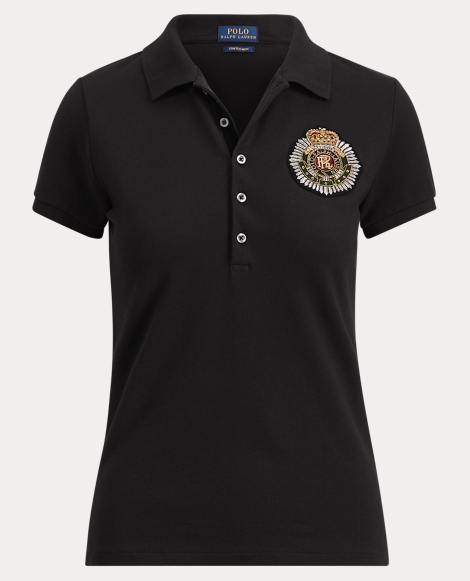 Slim Fit Bullion-Crest Polo