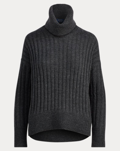 Alpaca-Wool Turtleneck Sweater