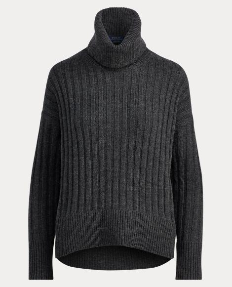 Alpaca-Wool Turtleneck Sweater