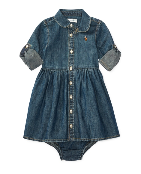 Denim Shirtdress & Bloomer