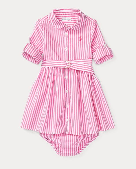 Striped Shirtdress & Bloomer