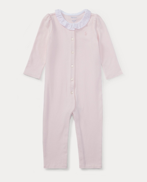 Ruffled-Collar Cotton Coverall