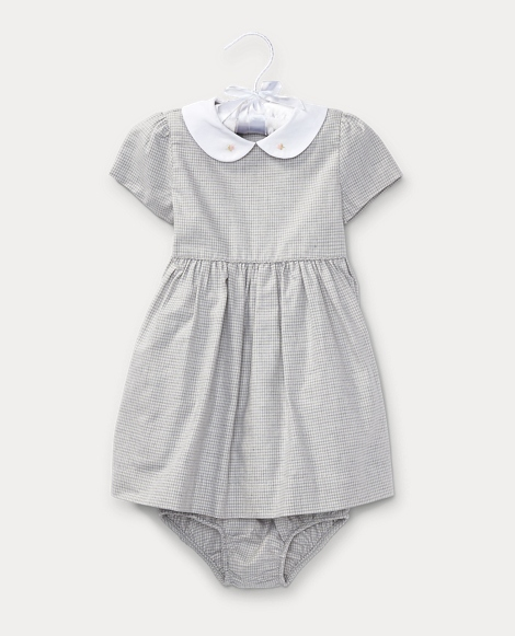 Cotton Twill Houndstooth Dress