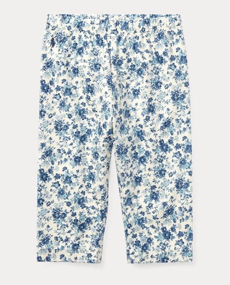 Floral-Print Cotton Pant