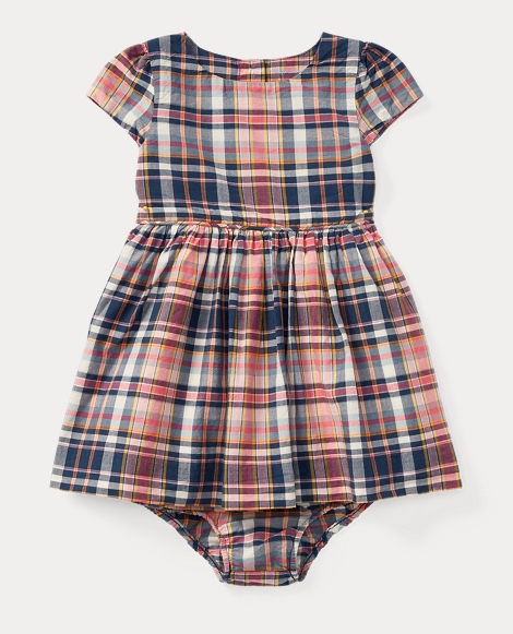 Plaid Cotton Dress & Bloomer