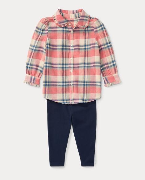 Plaid Shirt & Legging Set