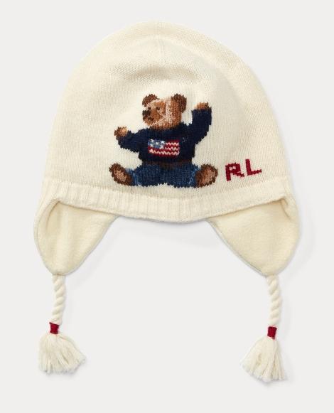 Polo Bear Merino Earflap Hat