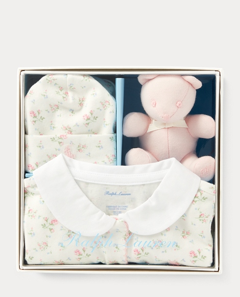 Floral Coverall & Hat Gift Set