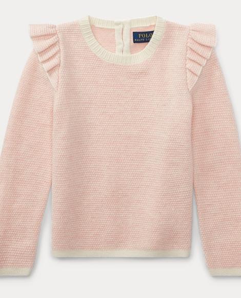Ruffled Merino-Blend Sweater