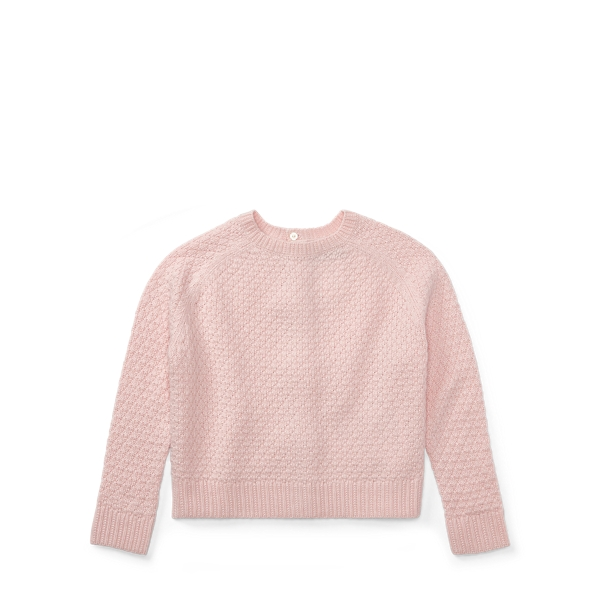 Ralph Lauren Seed-Stitched Bow-Back Sweater Pink 6
